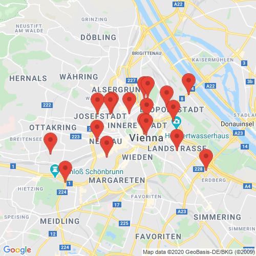 Carte des Escape Games de la région Autriche