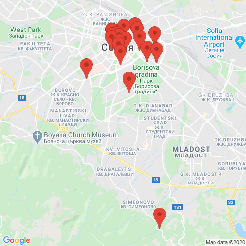 Carte des Escape Games de la région Bulgarie