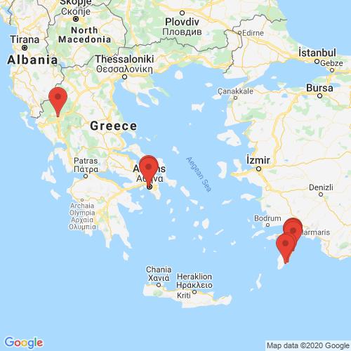 Carte des Escape Games de la région Grèce