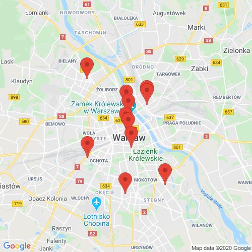 Carte des Escape Games de la région Pologne